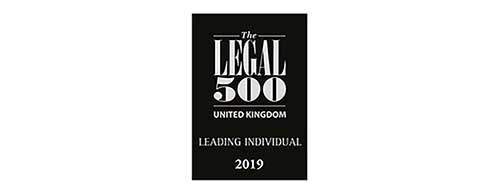 The Legal 500 UK - Leading Individual 2019