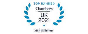 MSB Solicitors Award - Top Ranked Chambers UK 2021