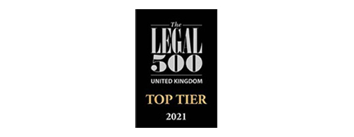 MSB Solicitor Award - The Legal 500 UK - Top Tier 2021
