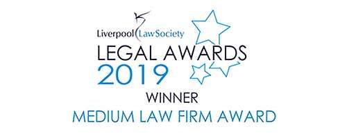 Liverpool Law Society - Legal Awards 2019 Winner - Medium Law Firm Award