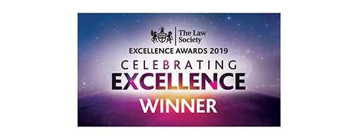 The Law Society - Excellence Awards 2019 Winner