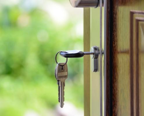 House Keys In Door Lock